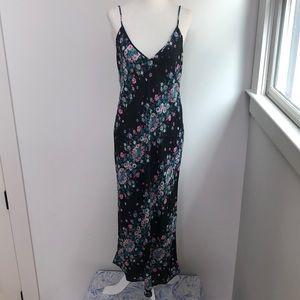Diane Von Furstenberg Floral V Neck Slip Dress